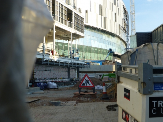 There is very little view of the new Spurs ticket office